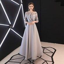 JIN IS YARN Robe De Soiree Mermaid Burgundry Long Evening Dress Party Elegant Vestido De Festa Long Prom Gown With Belt