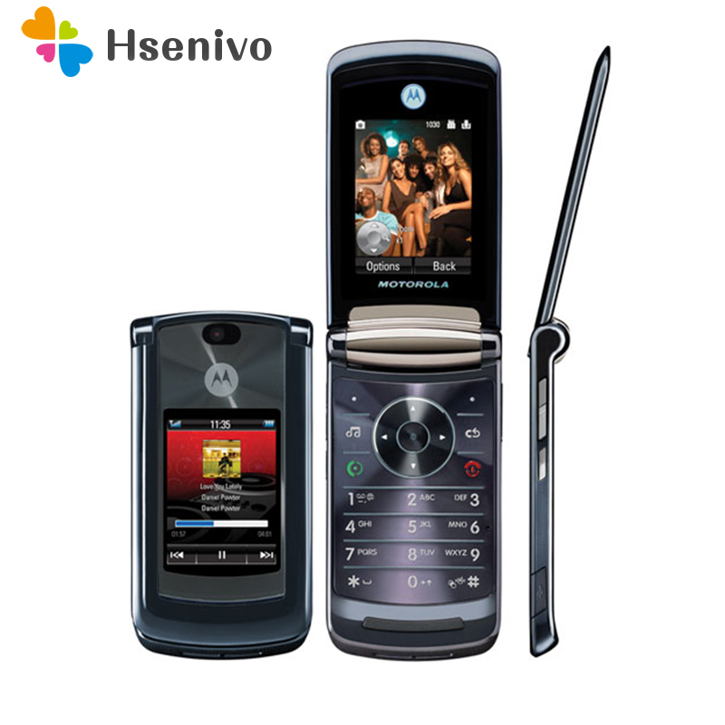 100% Original Luxury Version Motorola V8 Original Unlocked GSM Flip Bluetooth MP3 FM Radion Mobile Phone Free shipping