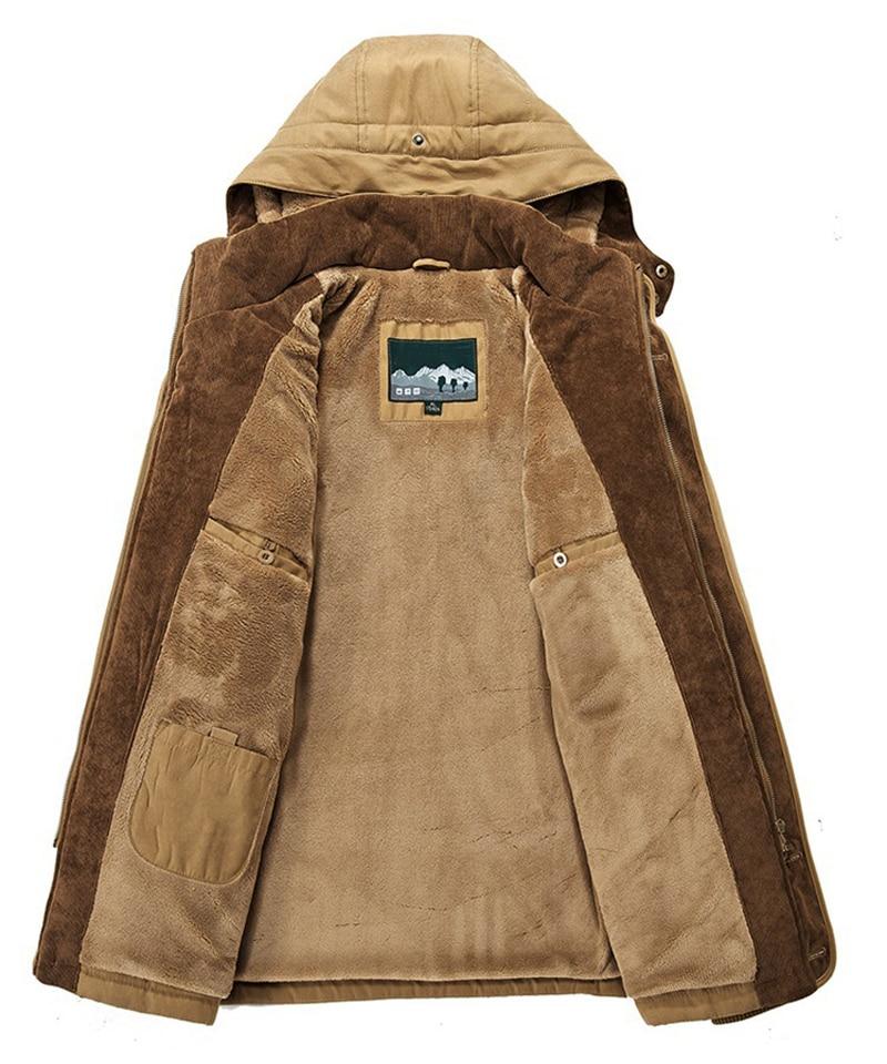 High Quality Men's Windbreaker Fleece Cotton Winter Jacket 5