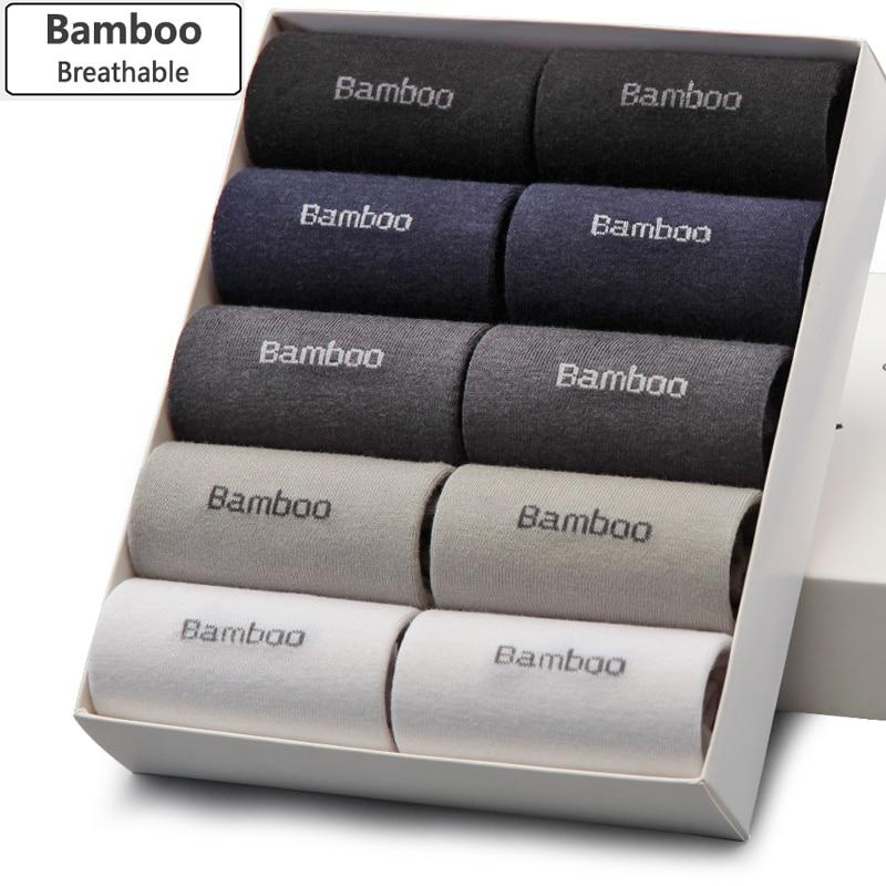 Bendu Men Bamboo Socks Brand Guarantee Anti-Bacterial Comfortable Deodorant Breathable Casual Business Man Sock (10 Pairs / Lot)