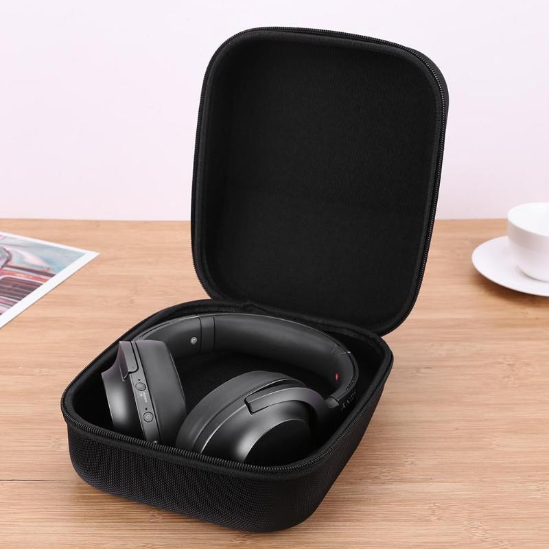 Portable Shockproof Headphone Bag Earphone <font><b>Case</b></font> Headset Carry Pouch Storage Bag Hard Box Accessories For headphones image