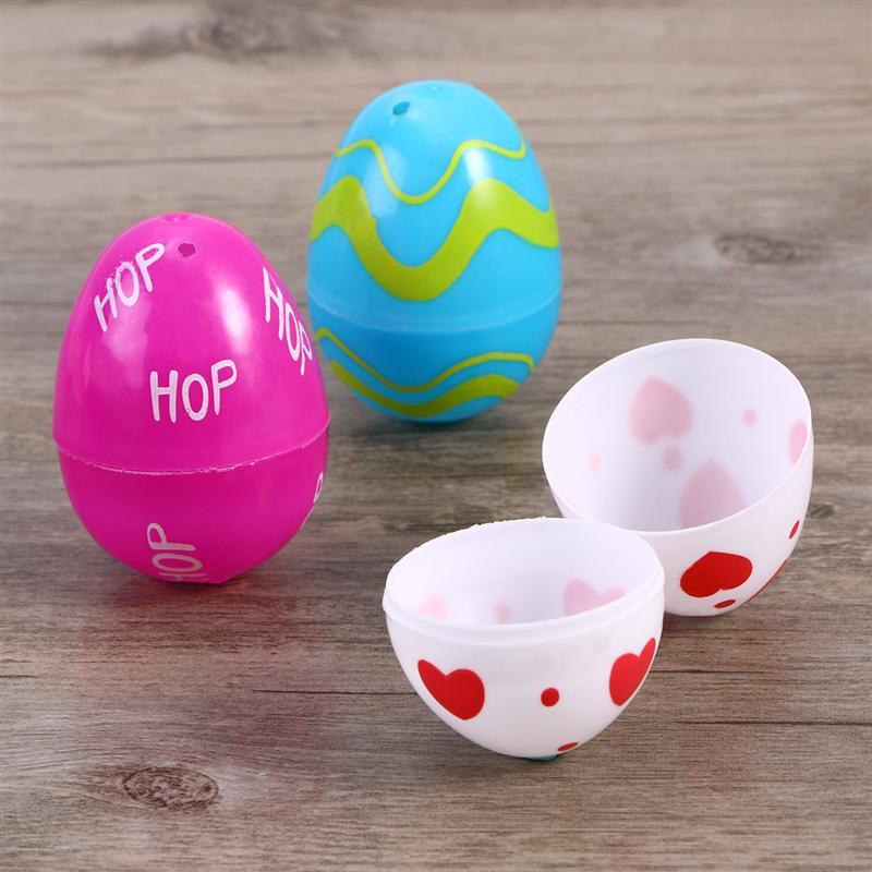 BESTOYARD 24pcs Bright Jumbo Easter Eggs Party Favors Decoration