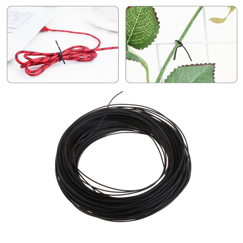 40m Garden Coated Black Twist Wire String Tie Roll Plant Support Strap Cables Nov