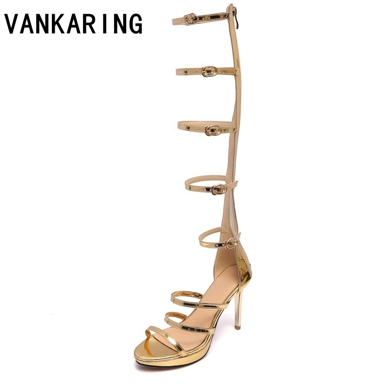 D À Silvery Bout Ouvert Sexy Tendance Pour Long Vankaring Chaussures SUpzMqGV