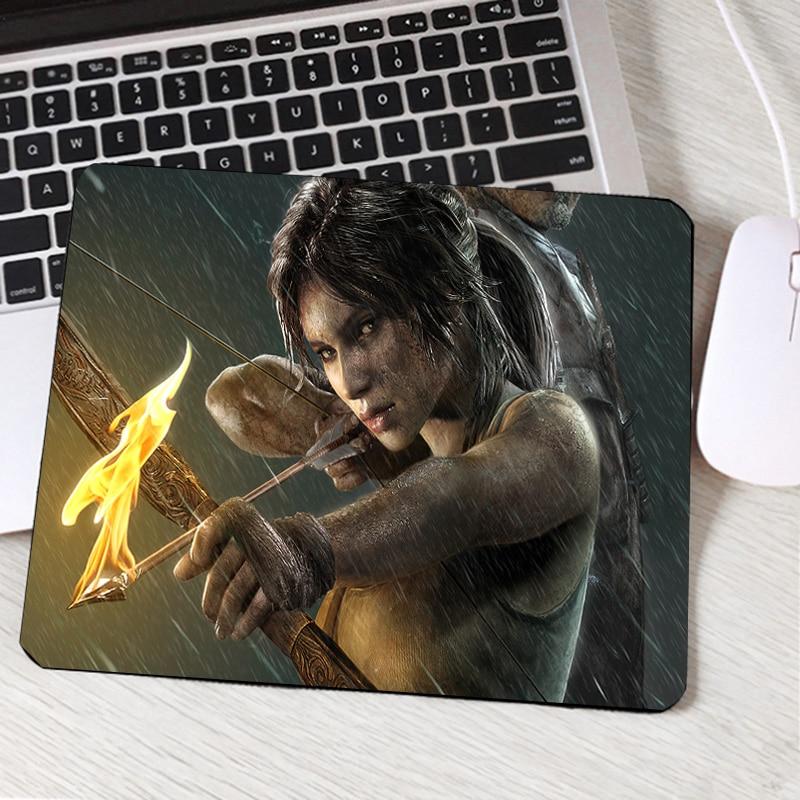 Mairuige Hot Video Game Movie Tomb Raider Series Pc Computer Gaming Mousepad Beauty Girls Lara Croft Cool Game Mouse Pad Mat