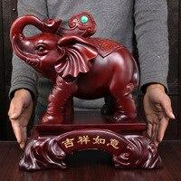 Mascotte olifant mascotte Lucky stijlvolle woonkamer decoraties zoals houten olifant ornamenten ambachten meubels een paar