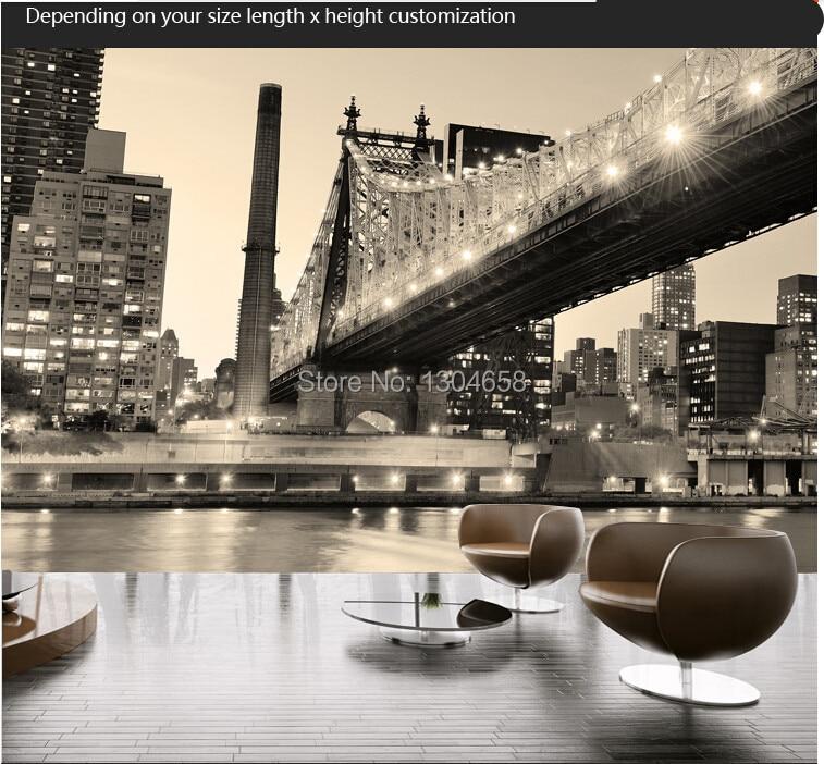 custom 3d stereoscopic wallpaper photo wallpaper in new york city