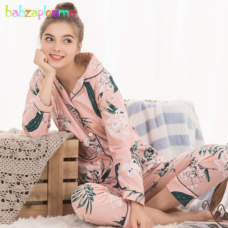 b2c888e459d 2018 Maternity Nightwear Korean Fashion Stripe Cotton Soft Nursing Pajamas  For Pregnant Women Breastfeeding Clothes Set BC1209-1