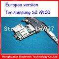 16 gb 1000% placa base original para samsung glaxy s2 i9100 reformado placa base placa lógica de la versión europea del buen trabajo