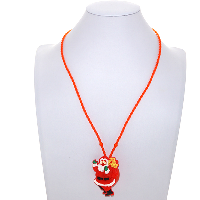 HOT Sale Christmas toys Led Necklace Flashing toys Santa Claus Mixed Models Xmas Kid Gife Free shipping toy 12pcs/lot
