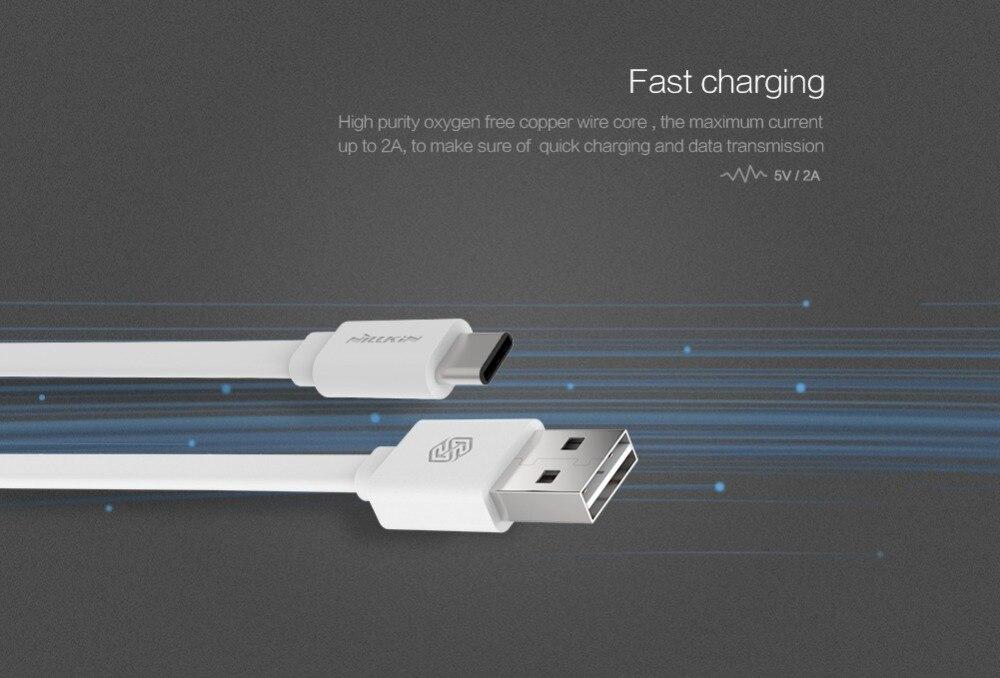 Tipo C original nillkin USB tipo C carga rápida tipo C cable para LG Nexus 5X xiaomi mi4c meizu pro 5 Huawei Nexus 6 P coche USB C