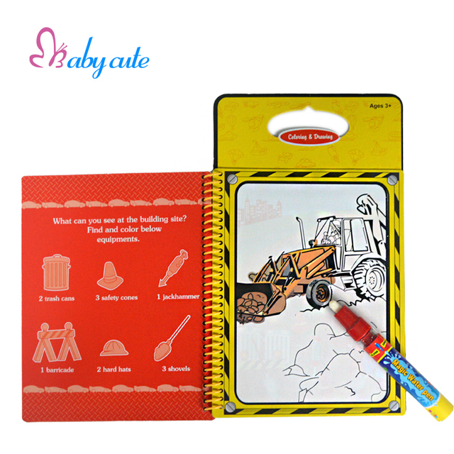 Water Drawing Toy Coloring Books For Kids Writing Board Magic ...