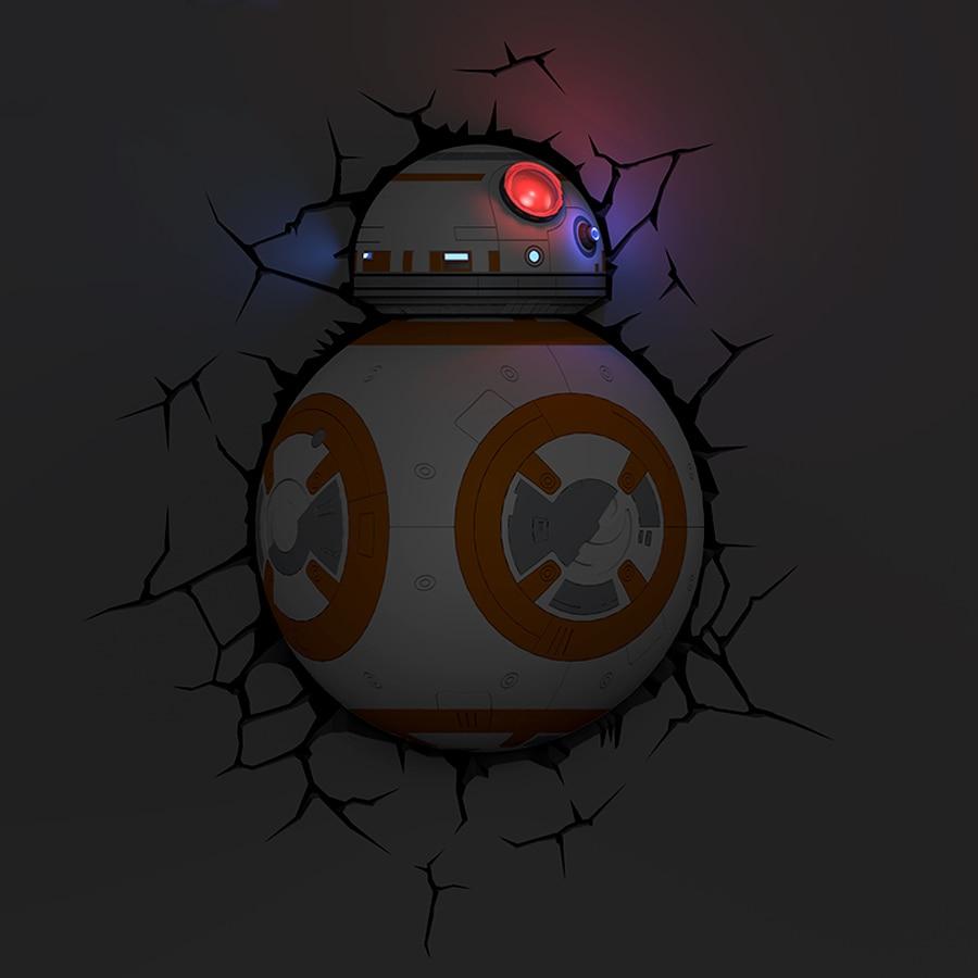 Dreammaster Creative Star Wars Robot BB8 Modeling 3D Wall Lamp ...