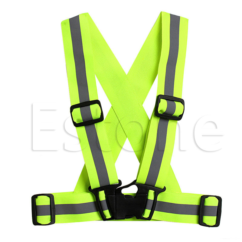 Safety Clothing Kids Adjustable Safety Security Visibility Reflective Vest Gear Stripes Jacket Elastic Straps