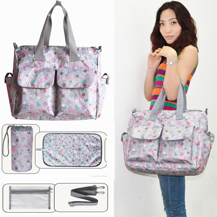 ФОТО Free Shipping!Wholesale Baby Diaper Bag Mummy Bag Nappy Bags With Baby Stroller Strap & Wet Bag For Mother Travelling