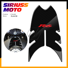 3D Motorcycle Front Gas Fuel Tank Cover Protector Tank Pad Case for Yamaha YZF-R6 R6 2008-2016 pazoma motorbike steel green orange gas tank motorcycle fuel tank for simson s50 s51 s70