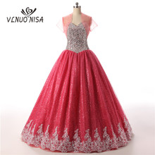 VLNUO NISA 100% Real Photo Ball Gown Evening Dress with