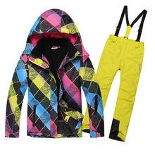 Kız Kayak Takım Su Geçirmez Çocuk Kayak Ceket Kayak Pantolon termal erkek Phibee yüksek kalite Kış Giyim-30 derece