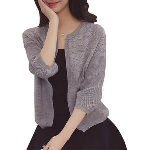 c252c7573f93 Liva girl Sweater Women Knit Cardigan Jacket Coat Jumper