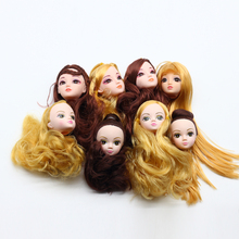 3pcs 3D eyes Foreign Trade Heads For Barbie Dolls DIY Birthday Gifts Mix Style Dolls Heads