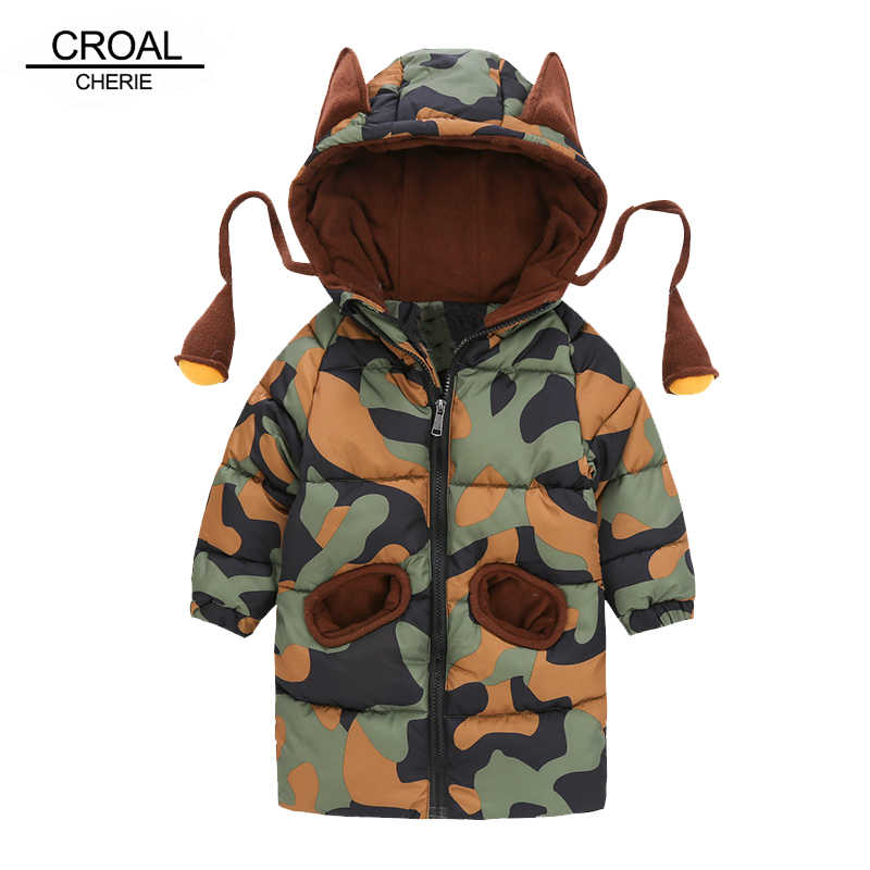 CROAL CHERIE 80-120cm Children's Winter Jackets For Teenage Girls Warm Winter Baby Parkas For Boys Camouflage Infant Overcoat