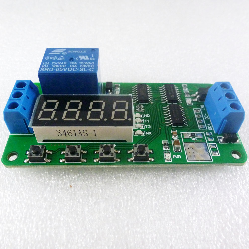 US $4 49 10% OFF|5V Multifunction Delay Relay PLC Cycle Timer Module Time  Switch for Arduino UNO MCU Development Boards-in Integrated Circuits from
