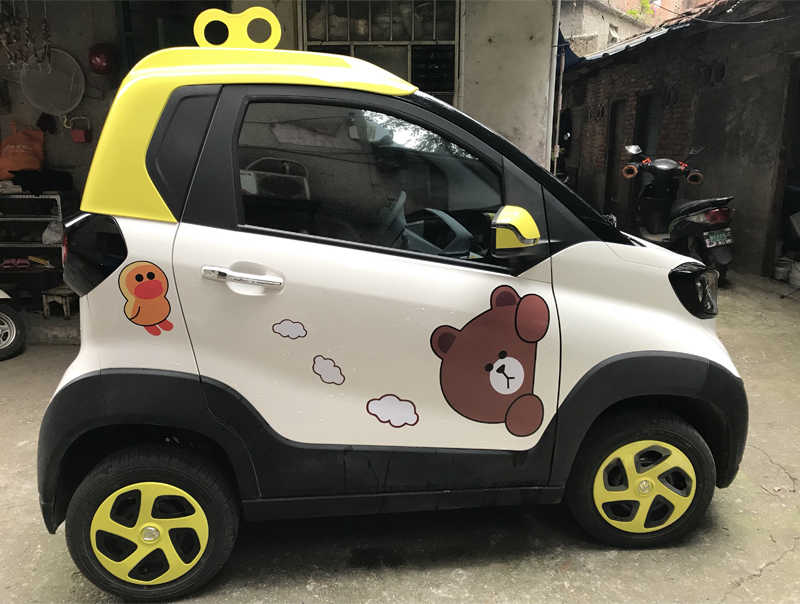 Cute Stylish EVA Spring Car Stickers For Cute Car Roof Refitting Pink  Vehicle Decal 3D Vinyl Auto Accessories