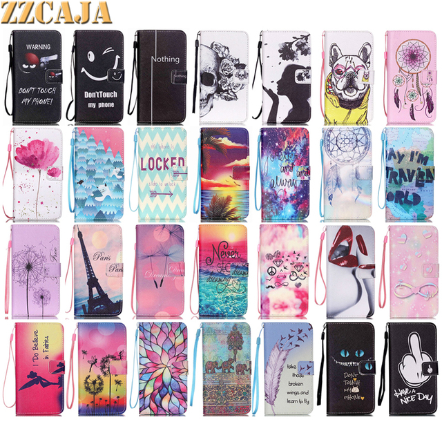 cf4f14778ab ZZCAJA For Samsung Galaxy S6 Edge Plus Case Luxury Cute Horse Pink Blue  Girls Dandelion Leather Soft Frame Cover for Samsung S6