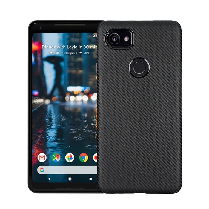 For Google Pixel 2 2 XL Case Carbon Fiber Soft Silicone Back Cover For Google Pixel 2XL 2 Slim Protective TPU Case Pixel 2 XL