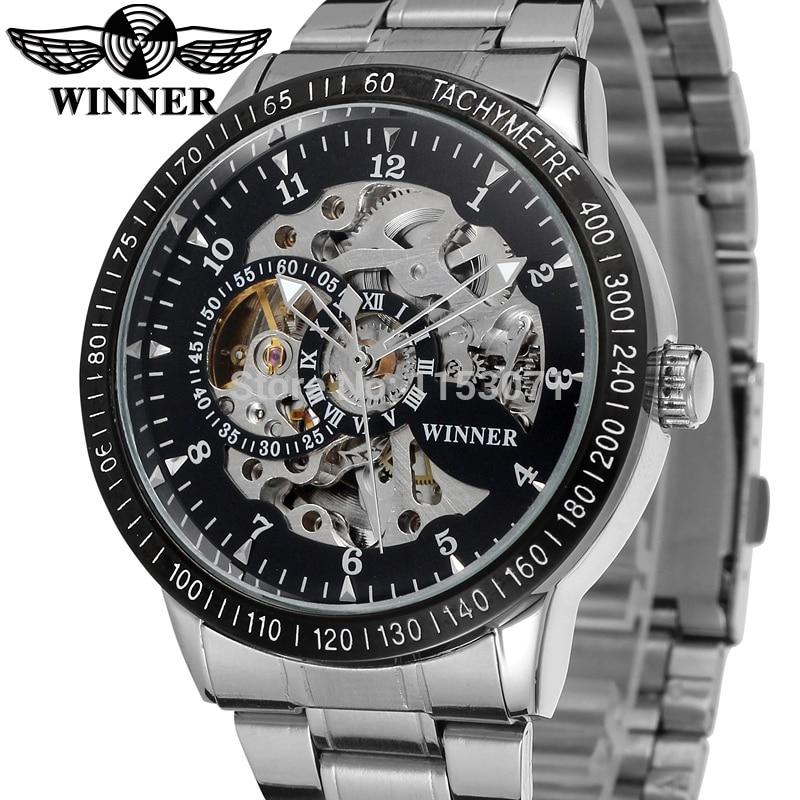 c8013bdb8c6 WRG8031M4T2 novo luxo esqueleto Vencedor relógio Automático para os homens  fábrica de aço inoxidável pulseira frete