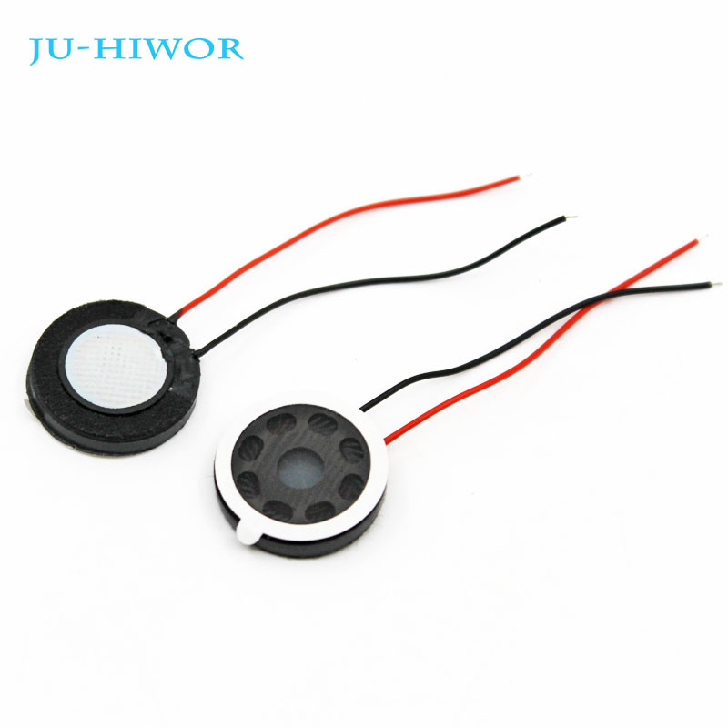 20pcs Acoustic <font><b>Speaker</b></font> F20 20MM Round Tablet Phone MP3 <font><b>Speaker</b></font> <font><b>1W</b></font> <font><b>8</b></font> <font><b>Ohms</b></font> Thickness 4.2MM With Wires Super image