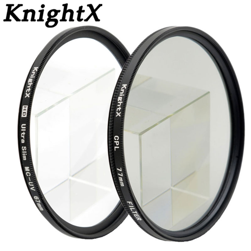 купить KnightX HD MCUV UV CPL Filter Petal Flower For Sony Nikon Canon D5300 D5200 D3300 EOS 7D 5D 6D 49MM 52MM 55MM 58MM 67MM 72 77MM недорого
