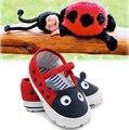 2017 Pequeña Mariquita bebé niños niñas primeros caminante bebe infantil niños zapatos para niños pequeños niños lindos zapatos de bebé únicos suaves zapatillas