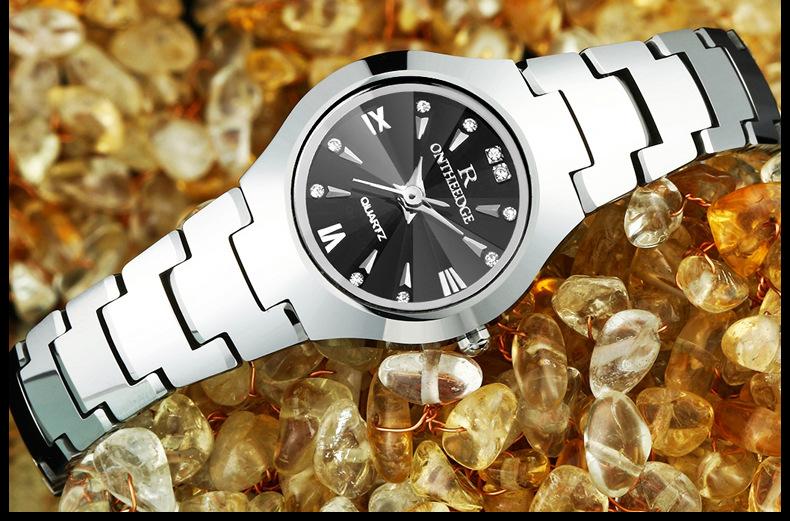 e1b59bb6877 Suíça mulheres ouro rosa relógios de Pulso de luxo senhoras de aço ...