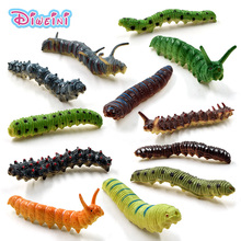 12Pc Lifelike Group Artificial insect Worm plastic animal model doll action figure DIY Decoration hot set toys for children gift