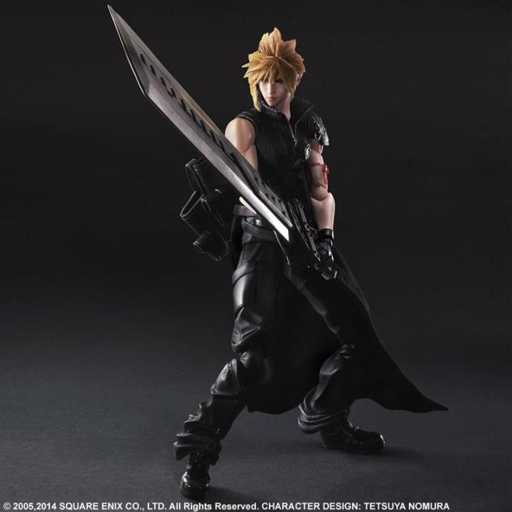 High quality Final Fantasy VII Cloud Strife Playarts KAI Final Fantasy 7 PA Kai Figure Collectible Model Toy with box