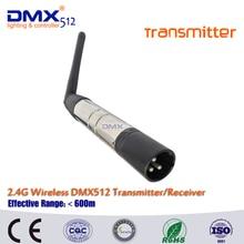 Бесплатная доставка 2.4 г ISM DMX512 Беспроводной XLR передатчик Светодиодное освещение для сцены номинальной стороны света с Телевизионные антенны
