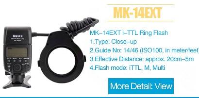 Meike MK-14EXTN macro ttl anel flash para