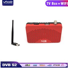 Vmade DVB-S2 Satellite Receiver + USB WiFi Dongle Adapter Combo HD TV Tuner Set Top Box Support Cccam IPTV Youtube WIFI 3G цены онлайн