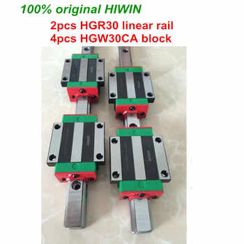 100% original HIWIN 2pcs HGR30 200mm 300mm 400mm 500mm 600mm 700mm 800mm 1000mm Linear Guide rail + 4pcs HGW30CA HIWIN Carriage - DISCOUNT ITEM  8% OFF All Category