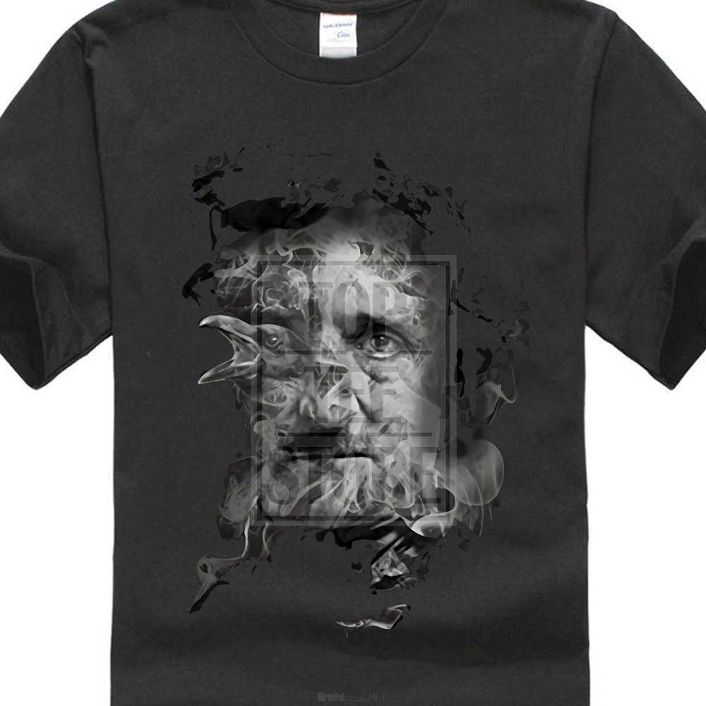 2018 Hot Summer Funny Cool Fashion Printed Hipster Tops MenS T Shirt Edgar Allan Poe In Smoke With Raven Fantasy T Shirt ...
