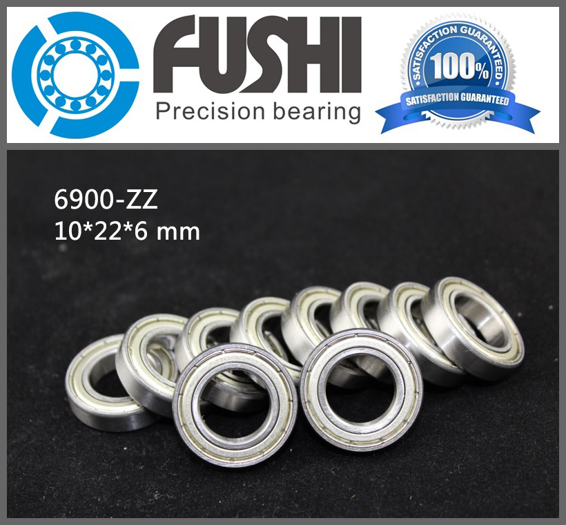 6900ZZ Bearing ABEC-1 (10PCS) 10x22x6 mm Metric Thin Section 6900 ZZ Ball Bearings 6900Z 61900Z gcr15 6326 zz or 6326 2rs 130x280x58mm high precision deep groove ball bearings abec 1 p0