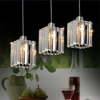 Modern Top K9 Crystal Led Pendant Lamp Hanging Lights LED Fixture Hanging Lamp Lamparas Illumination Lustre