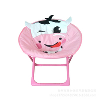 Good Bearing Kids Chair Pink Folding Study Chair Cartoon And Washable Kid Bench Flame Retardant Material