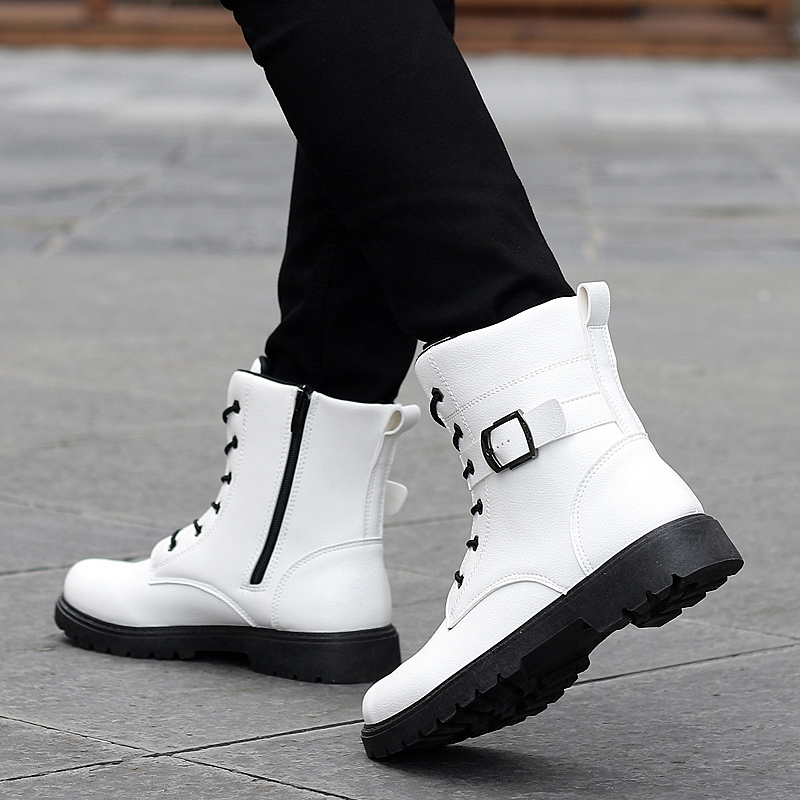 Men Army Boots Autumn Winter High Top Mens Sneakers Military Combat Boots Comfortable Men Working Safety Shoes in Basic Boots from Shoes