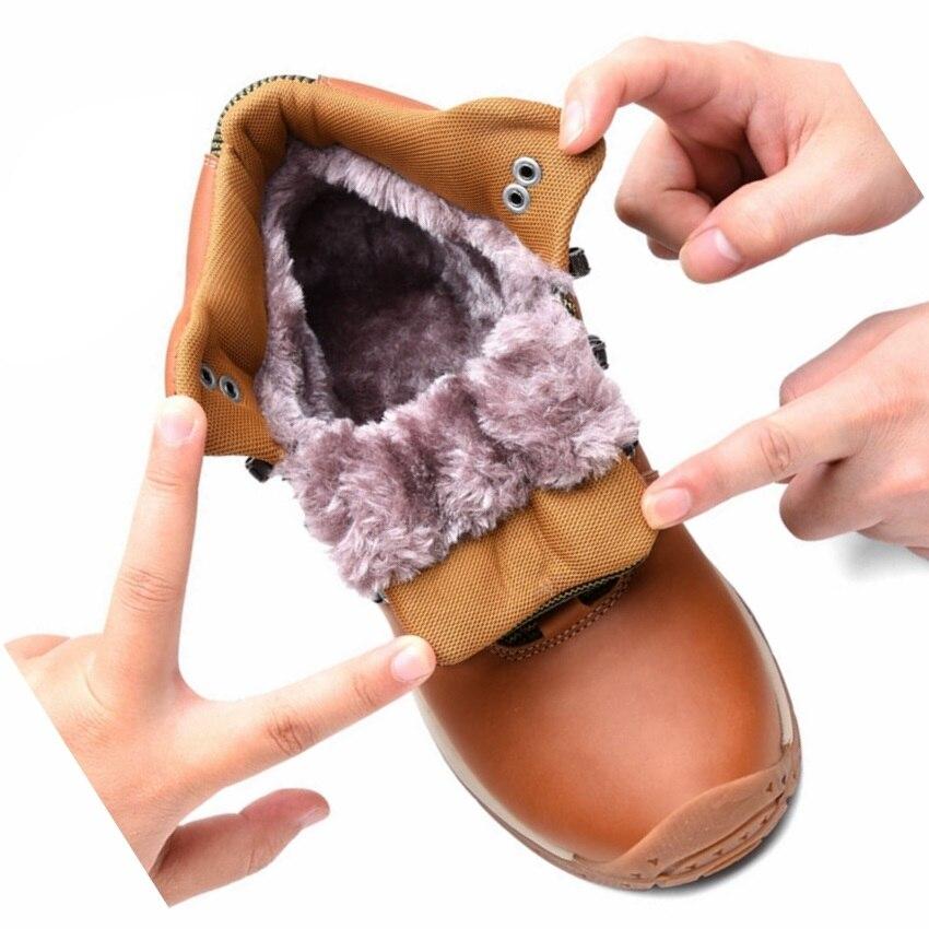 women Genuine Leather Winter Outdoor High Top Snow Boots hiking Shoes Waterproof women hiking Sneakers Plus Big Size outdoor sport women high top running shoes genuine leather running boots sneakers women plus big size