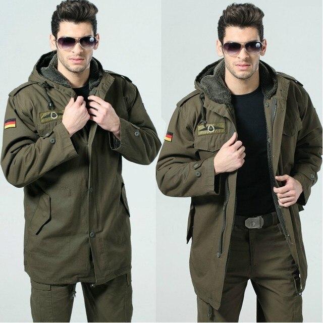 92d4a4abfe4 Ejército alemán al aire libre moda Casual chaqueta militar para hombre  chaqueta térmica clásica a prueba