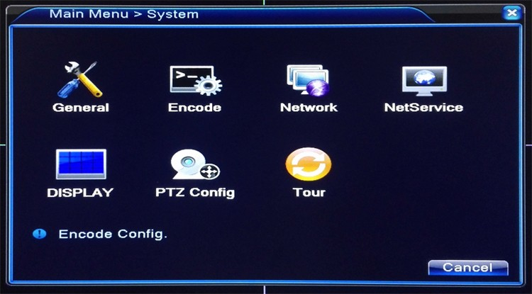 8ch 8 channel four in one tvi cvi ahd dvr main menu picture 02