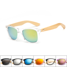 16 color Wood Sunglasses Men bamboo Women Brand Designer Mirror font b Sun b font font