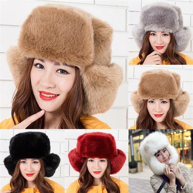 Russische Cossack Kosaken Kappe Winter Hut Frauen Hüte Winter Beanie Mütze Damen
